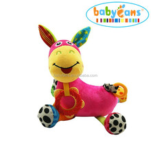 Babyfans custom stuffed animal baby music toys soft donkey plush toy