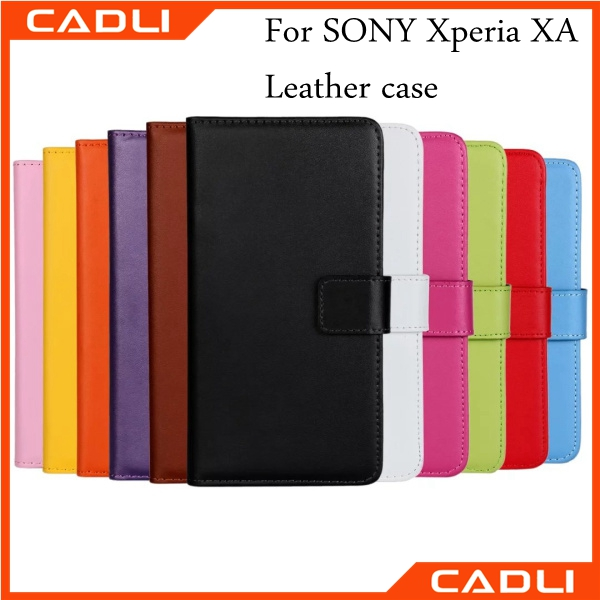 Filp leather phone wallet case cover for Sony Xperia XA with card slots