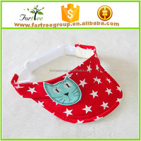 low price promotional children summer sun hats visors