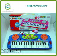 Top selling musical organ with microphone for children kids musical organ