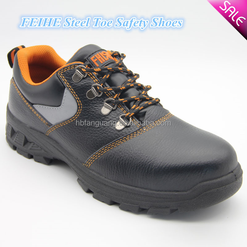 genuine leather antistatic executive workmans safety shoes