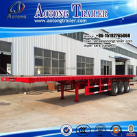 China Hot sale flatbed semi trailers for one 40 feet or two 20 feet container