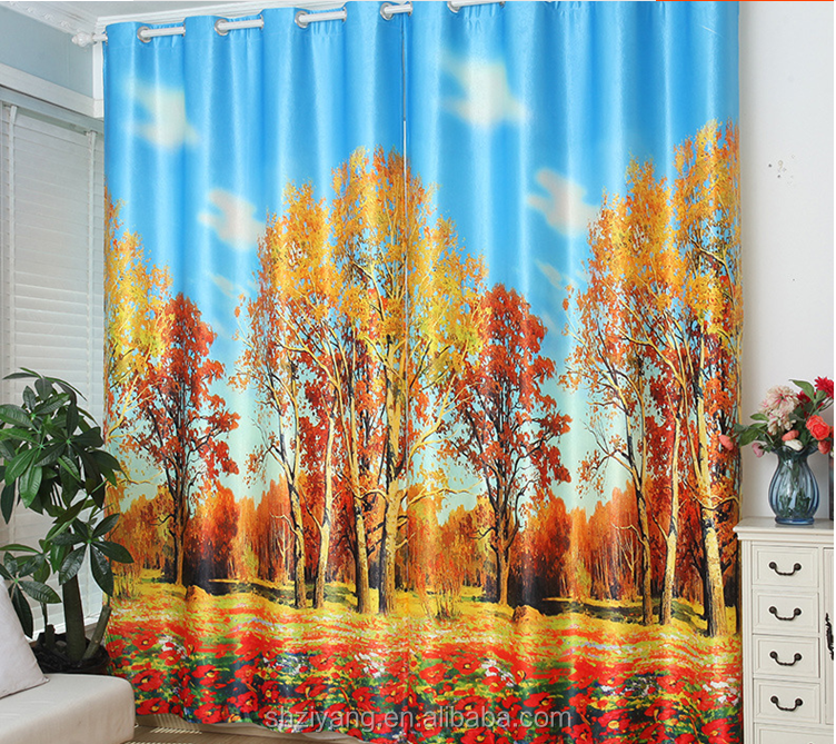 "60""printable 3d curtain"