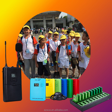 Legal Europe travel agent and group Wireless Tour Guide System , popular Europe tourist tour guide microphone