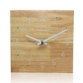 Popular and Classic Wood Wall Clock Vintage Square Wood Metal Stand Clock