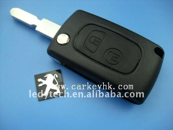 High quality Peugeot 406 modified flip remote key blank & car key shell & auto key casing
