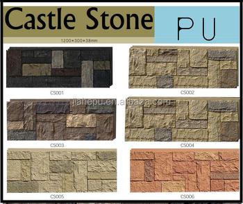 PU polyurethane 3D light weight easy install decorative faux stone panel