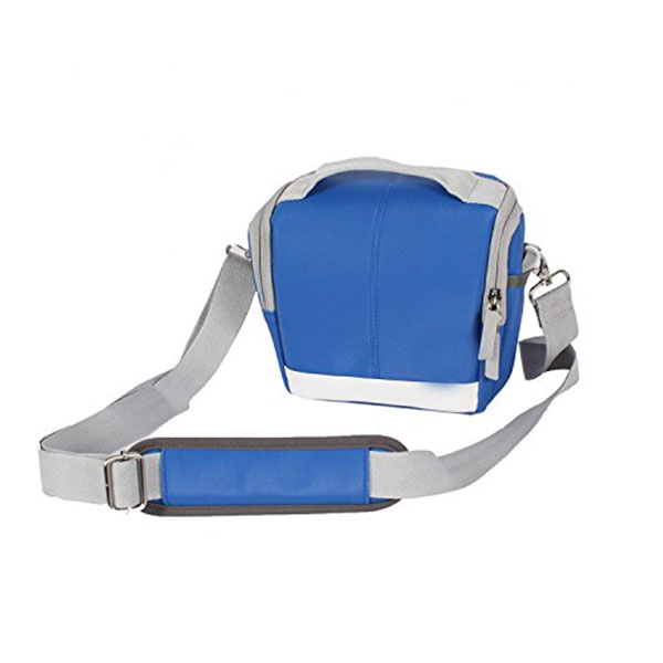 blue 420D nylon aslant camera bag dslr custom-made camera bag leather
