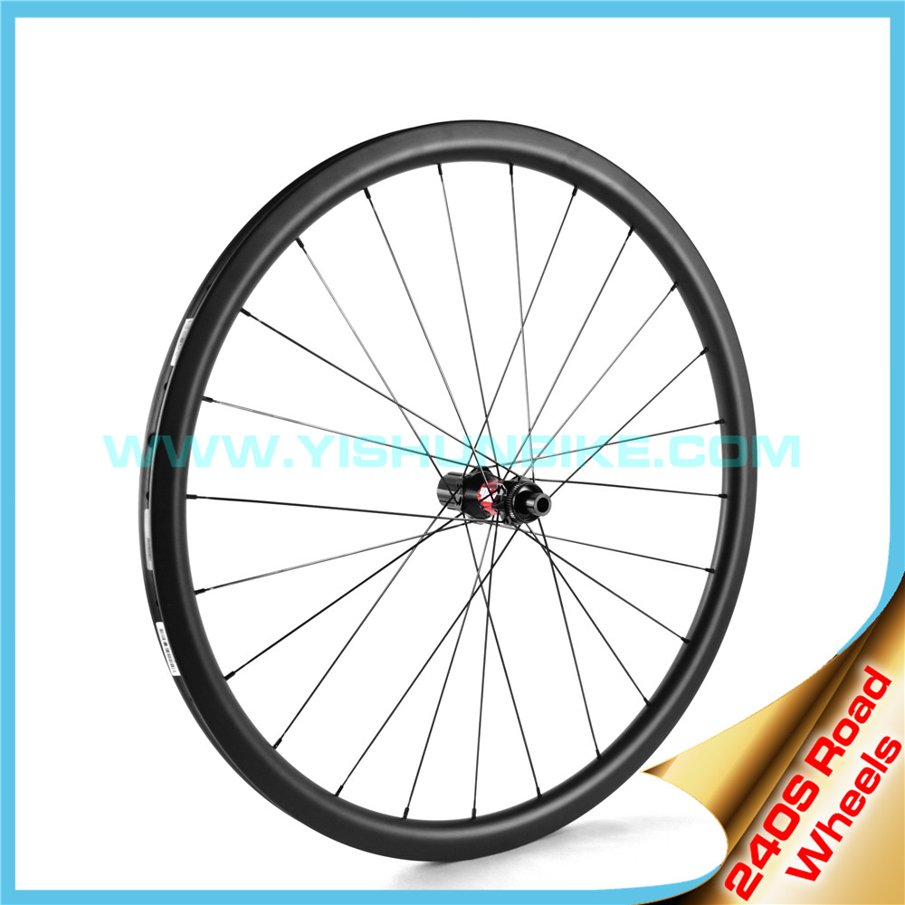 700C road bicycle disc brake carbon wheel 240-38mm straight pull hubs with Sapim cx-ray spokes clincher wheel rims