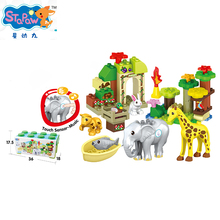 Cartoon Animal Theme Music Touch Sensitive Baby Kids Age Plastic Building Blocks