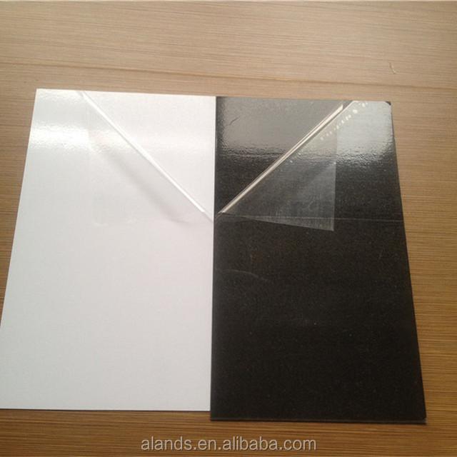 double face adhesive pvc for photo album black or White