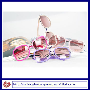 eyewear colorful metal wrapped OEM unique women sunglasses