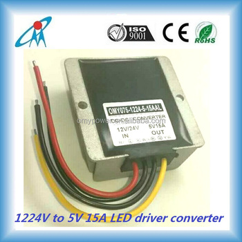 1224V to 5V 15A vehicle dc converter car LED driver converter battery charger