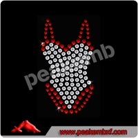 Leotard Rhinestone Transfer Iron On heat for t-shirt Patch Applique