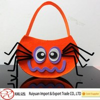2015 cute felt candy bag for Hallowwen trick or treat Cat,spider,bat 3 designs for choice