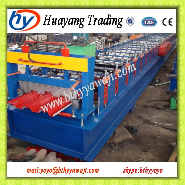 auto uncoiler+floor decking roll forming machine+auto stacker with low price