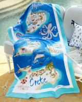 "China hot sale supplier 100%cotton reactive print beach towel,Greek Isles Beach Towel, 40"" x 70"""