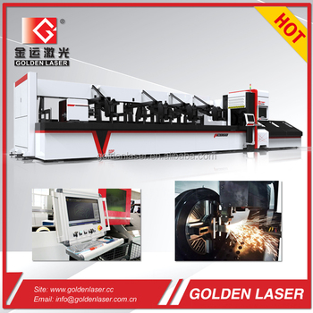1000w 2000w 3000w fiber metal pipe laser cutting machine for display shelf