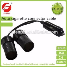 universal cable with cigarette lighter plug,cigar female socket cable