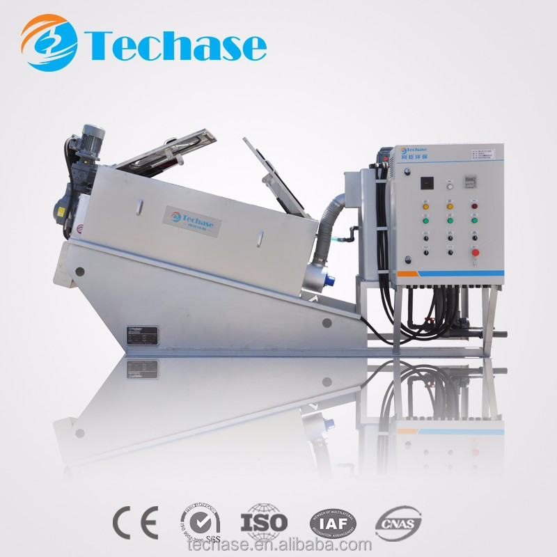 Separator sewage treatment equipment for food industry better than belt press