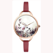 Time piece photo dial ladies alloy wrist watches for small wrists