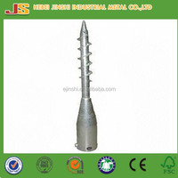 hot dipped galvanized ground screw anchor for fence