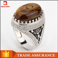 Alibaba mens silver ring turkey design 925 silver ring with yellow stone colored stone silver men ring