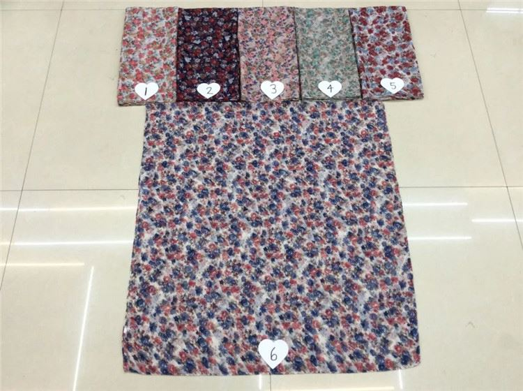 Best seller cartoon pattern voile hand-feel smoothly plain pashmina shawl