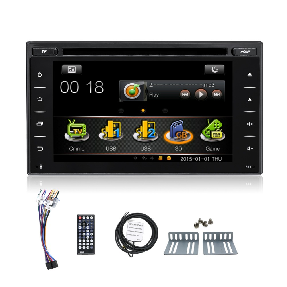 wince whole touch capacitive screen car media for universal car with dvd usb sd gps radio bluetooth