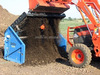 Composting machine soil rock gravel vibratory screener