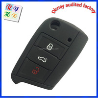 Durable Decorative Silicone Car Key Cover for VW GOLF 7