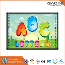 Active board two user infrared portable finger touch digital interactive whiteboard
