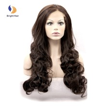Wholesale cheap price heat resistant lace front synthetic wig