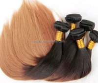 Fashion Two Tone Ombre Remy Human Hair Weaving Wholesale