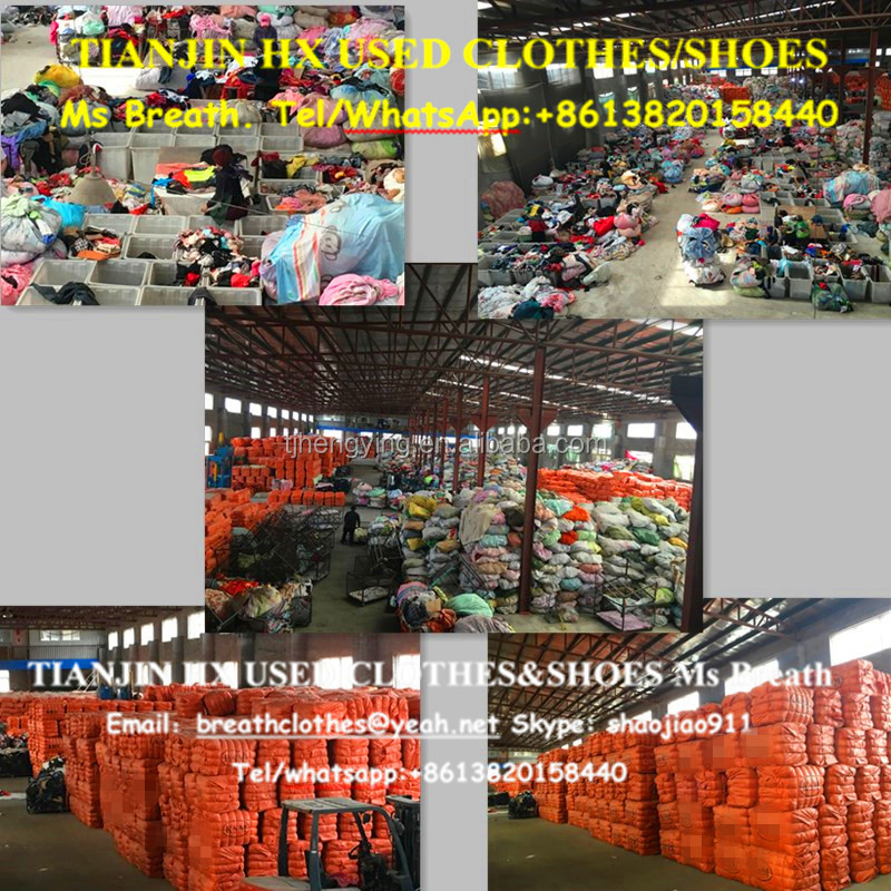 High quality second hand cloyhes used clothing in bales used clothing warehouse