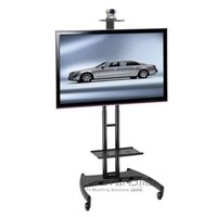 "Portable LED/LCD TV Stand Single Black Upto 40"" - 60"" - TS101-BLK"
