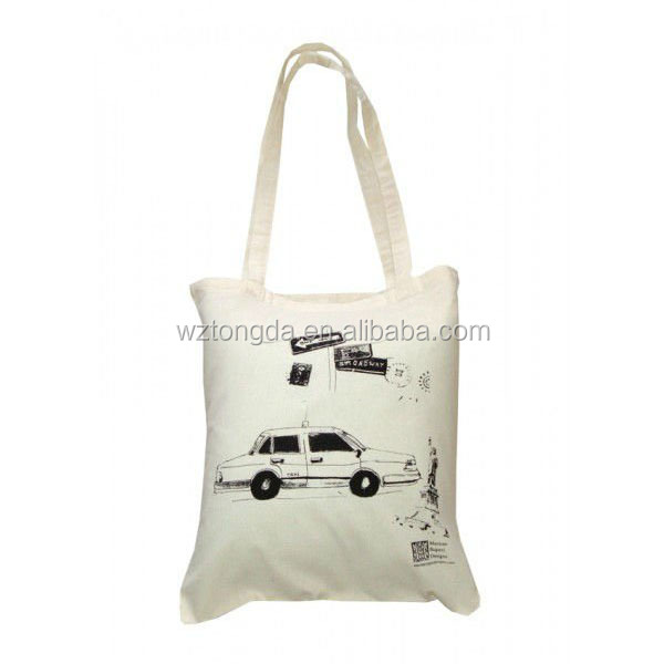 double handle cotton shopping bag for promotion