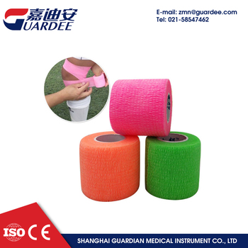 Medical disposable non-woven cohesive bandage