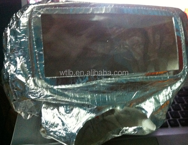 Firefighting hood aluminum foil cotton fireproof cloth