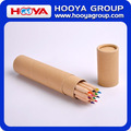 wholesale custom wooden color pencil in ruler tube box