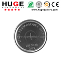 High quality 3.6V 280mAh LIR 3048 Rechargeable lithium button Cell battery
