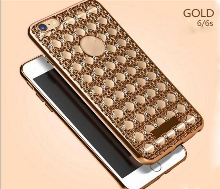 3D Bling Diamond Soft TPU Rubber Case Shiny Electroplating Bumper Frame Cases for iPhone 5 5S SE