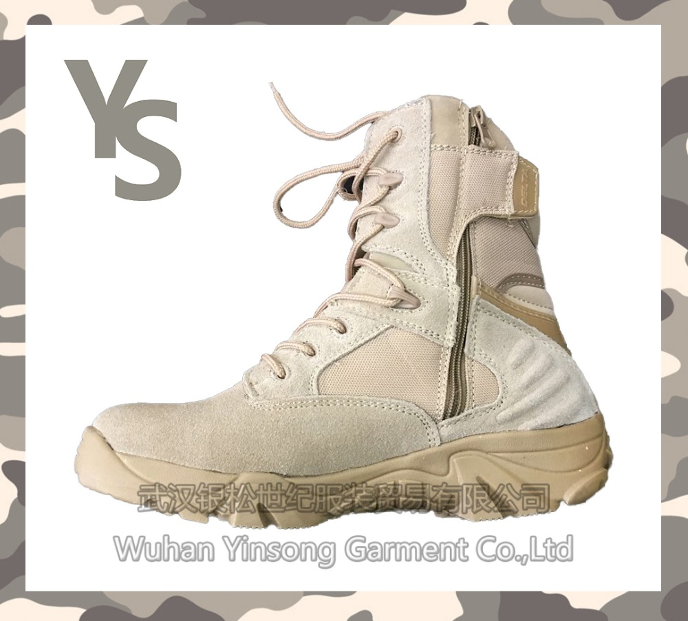 [Wuhan YinSong] Army hunting desert shoes military boot infantry combat footwear tactical police boots