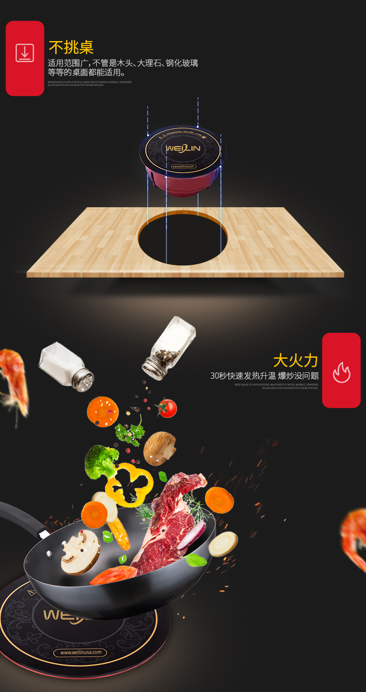 Shabu shabu restaurant Induction cooktop electric commercial built in small induction cooker