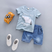 B6325 Hot Sale 2017 Summer Children Clothing Sets Baby Boys Suit Kids Clothes