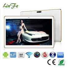 Hot Selling Stocked High Definion 1280*800 3G Tablet PC 9.6 Inch, Quad Core 3G Tablet 9.6""