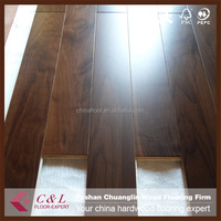 Multilayer black American walnut engineered wooden flooring
