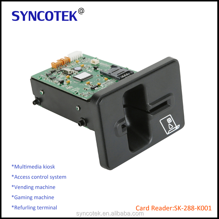 USB/RS232 Manual Insert Internal Magnetic Card Reader and Writer Embeded SK-288-K001