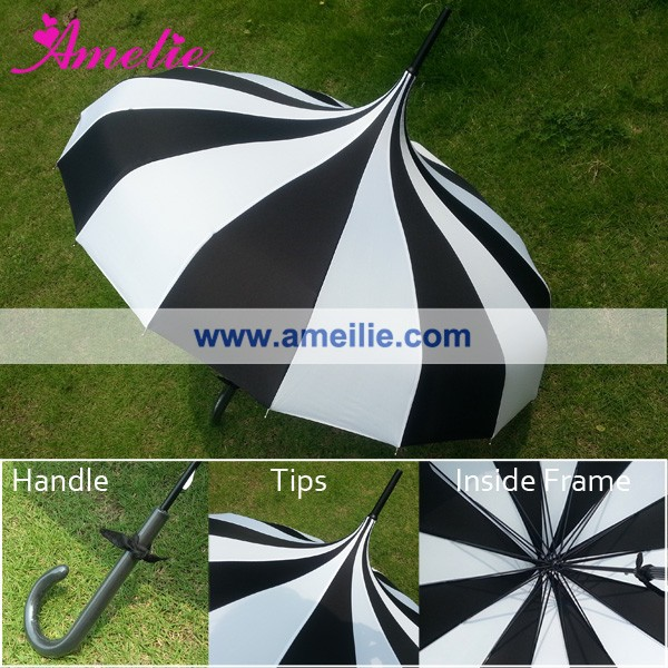Quality Guarantee Customized Thank You Printed Beach Wedding Umbrella