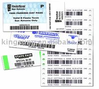 2014 Bar code airline Tickets ,tag, sticker